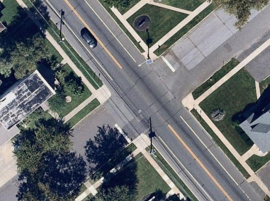 Unmarked Crosswalk